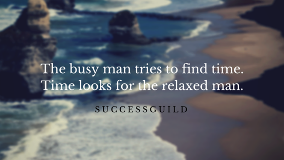 The busy man tries to find time.Time
