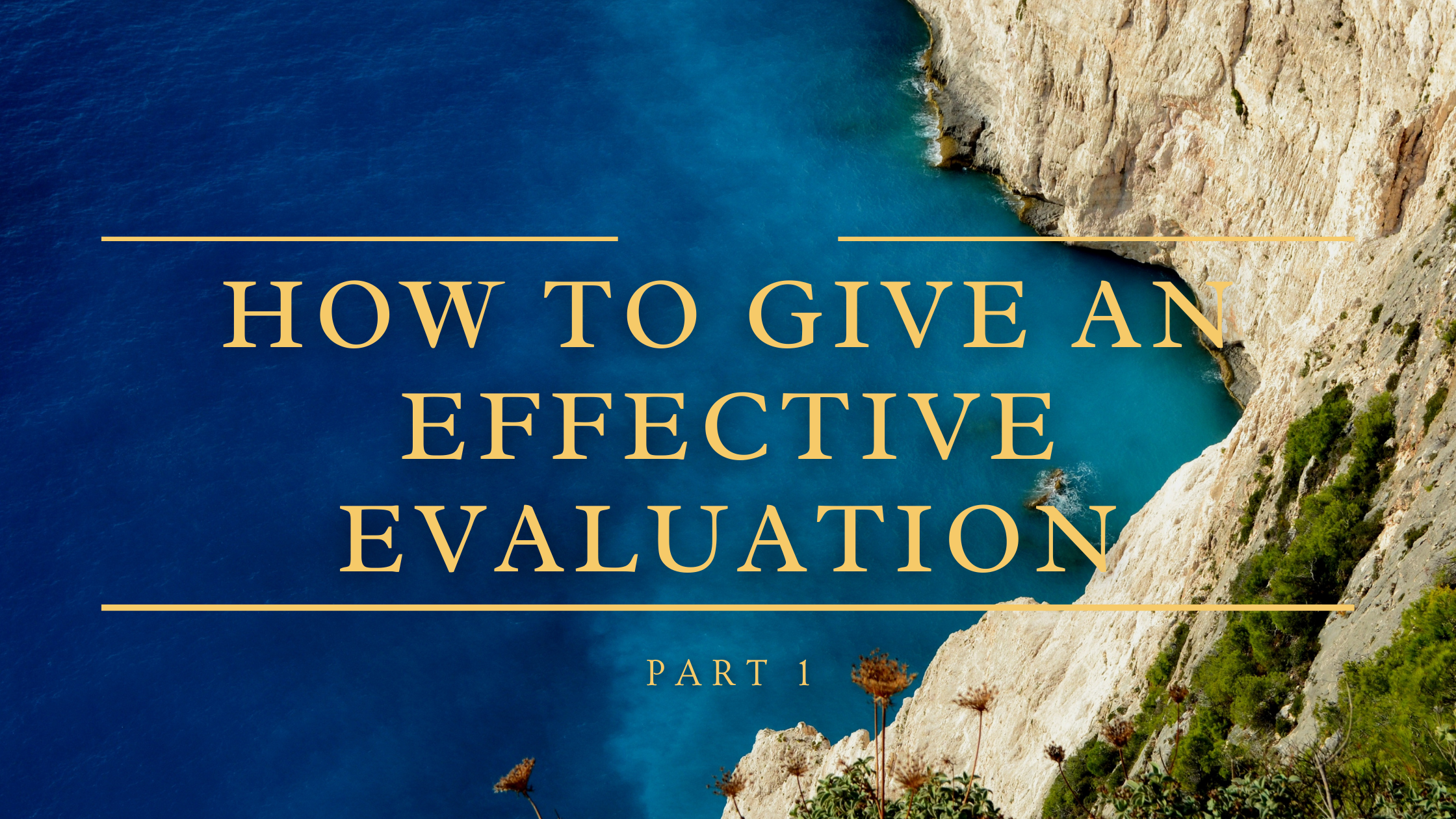 How To Give An Effective Performance Evaluation